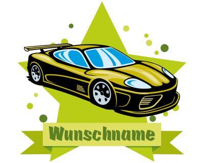 Cooles Auto Wandtattoo Türschild mit Name personalisierbar ...