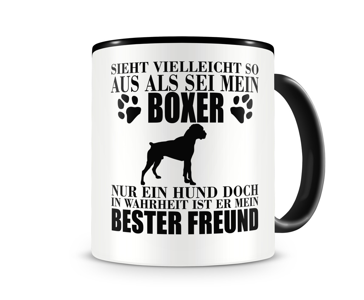 Boxer mein bester Freund Hunde Tasse Kaffeetasse Teetasse Kaffeepott ...