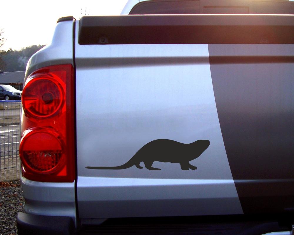 otter tier aufkleber autoaufkleber sticker f r auto. Black Bedroom Furniture Sets. Home Design Ideas