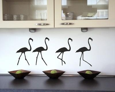 Flamingos als wandtattoo in verschiedenen farben und - Flamingo wandtattoo ...