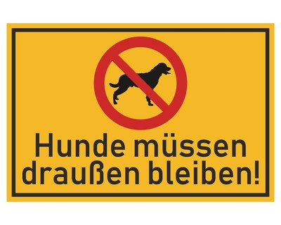 Aufkleber Hunde Draußen Bleiben Schild Sticker
