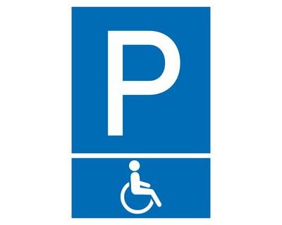 Aufkleber Behinderten Parkplatz Blau Schild Sticker