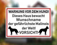 "Warnung Metallarbeiten Malinois 6 /"" Aufkleber J768 k9 Abziehbild"