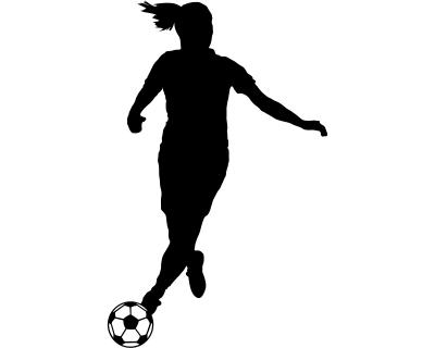 Aufkleber Abwehr Fussballspielerin Sticker Autoaufkleber