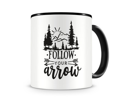 Tasse mit dem Motiv Follow Your Arrow