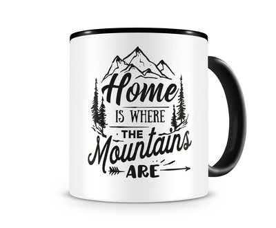 Tasse mit dem Motiv Where The Mountains Are