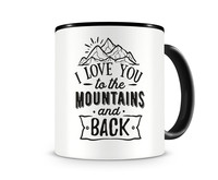 Tasse mit dem Motiv To The Mountains And Back Tasse Modellnummer 003958-070-070  schwarz/schwarz