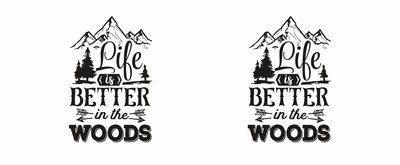 Tasse mit dem Motiv Life Is Better In The Woods Tasse