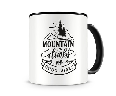 Tasse mit dem Motiv Mountain Climbs And Good Vibes