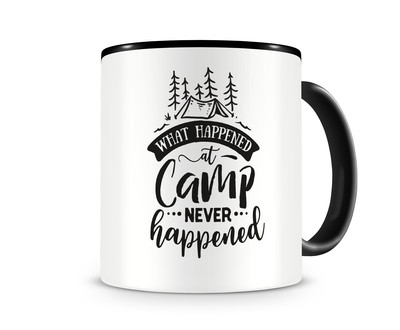 Tasse mit dem Motiv What Happened At Camp Never Happened
