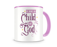 Tasse mit dem Motiv I Am A Child Of God Tasse Modellnummer 003994-972-972  rosa/rosa
