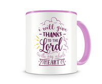 Tasse mit dem Motiv Thanks To The Lord Tasse Modellnummer 003997-972-972  rosa/rosa