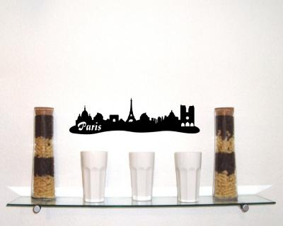 Wandsticker Paris Skyline Sonderangebot