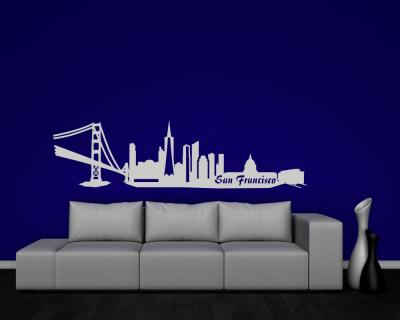 Wandsticker San Francisco Skyline Sonderangebot