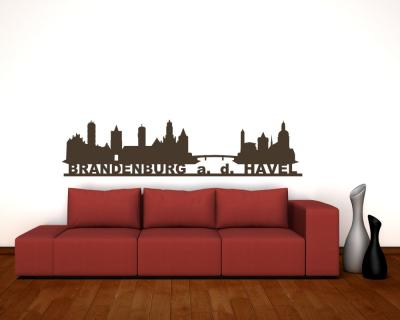 Wandsticker Brandenburg an der Havel Skyline Sonderangebot