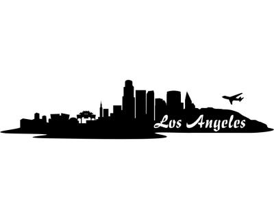 Wandsticker Los Angeles LA Skyline Sonderangebot