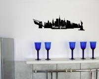 Wandsticker New York Skyline  schwarz 30x9cm