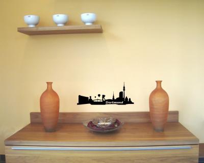 30cm wandtattoo dortmund skyline wandaufkleber wandsticker sticker aufkleber ebay. Black Bedroom Furniture Sets. Home Design Ideas