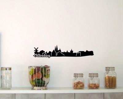 Wandtattoo Oldenburg Skyline 30x6,3cm Sonderangebot